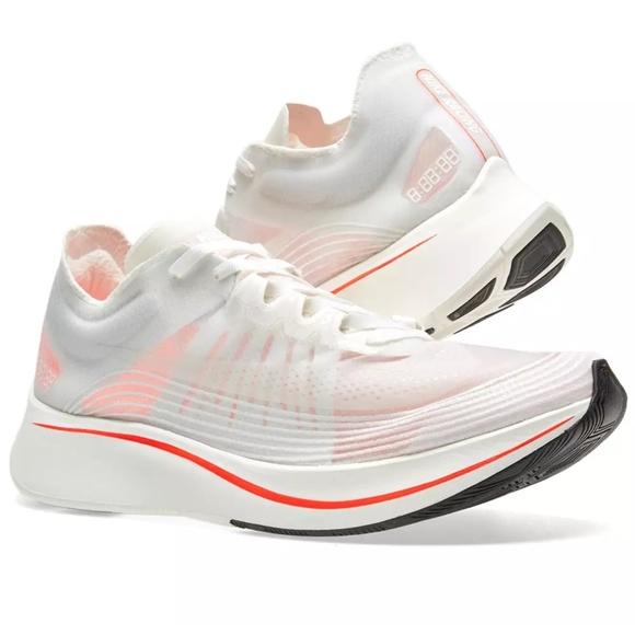 online retailer e4db7 1beff Nike Zoom Fly SP White Crimson AJ9282-105 Running